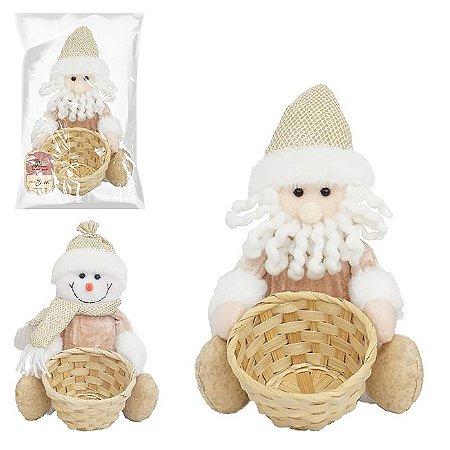 Boneco c/ cesta de natal Sweet Zein 22cm