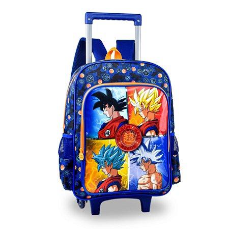 Mochila escolar rodinhas Clio Dragon Ball