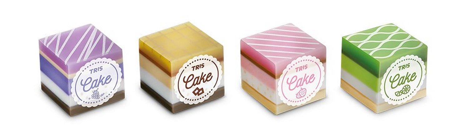 Borracha Cake Tris com fragrância