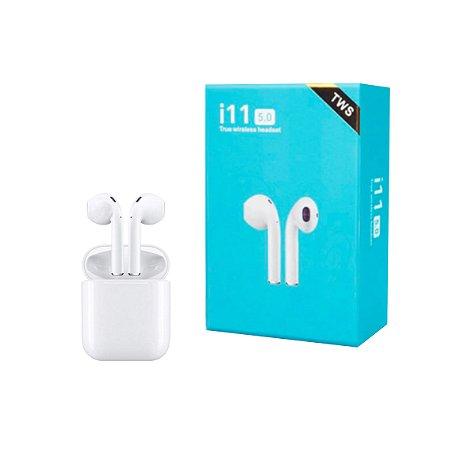Fone de Ouvido sem fio Tws i11 Bluetooth Touch iPhone e Android