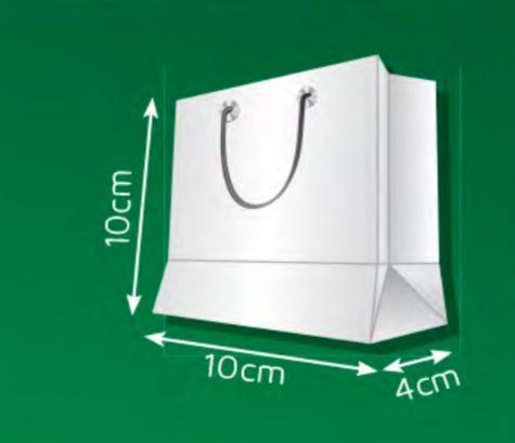 Sacola de Papel PP - (LxAxP) 10 x 10 x 4 cm