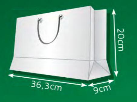 Sacola de Papel CP - (LxAxP) 36,3 x 20 x 9 cm