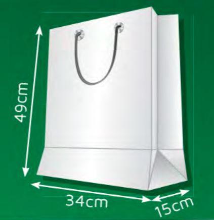 Sacola de Papel AM - (LxAxP) 34 x 49 x 15 cm