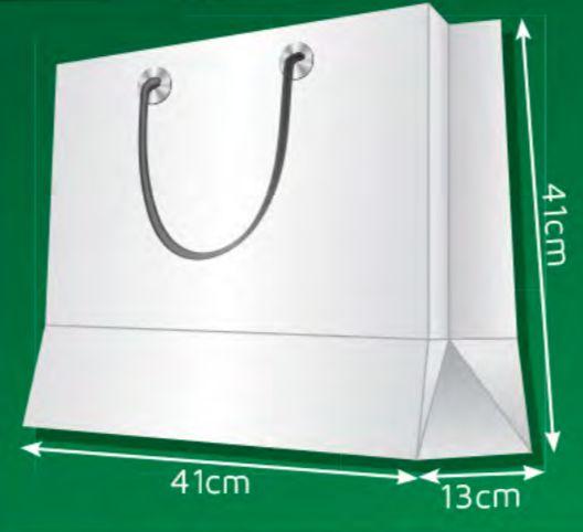 Sacola de Papel QG - (LxAxP) 41 x 41 x 13 cm