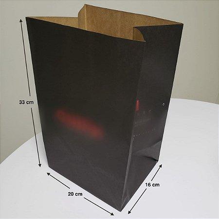 Sacola de Papel Kraft - (LxAxP) 20 x 33 x 16 cm