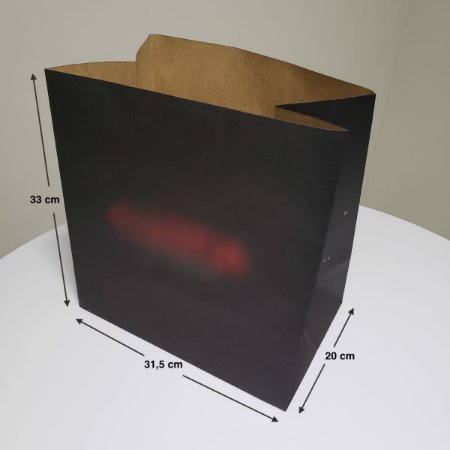 Sacola de Papel Kraft - (LxAxP) 31,5 x 33 x 20 cm