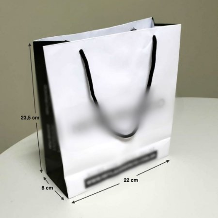 Sacola de Papel - (LxAxP) 22 x 23,5 x 8 cm