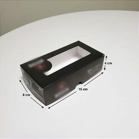 Caixa Para Sushi Delivery P com Visor - (LxAxP) 15 x 4 x 8 cm