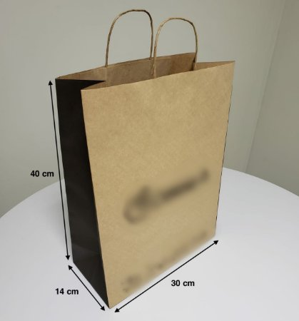 Sacola de Papel - (LxAxP) 30 x 40 x 14 cm