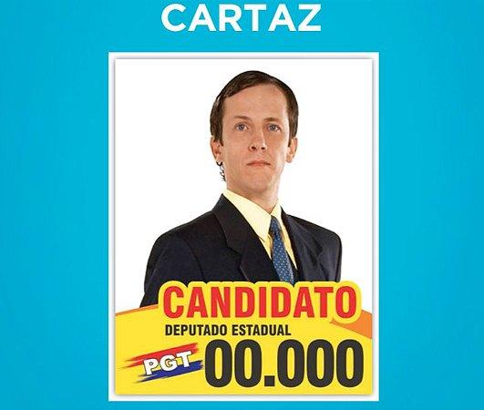 Cartaz Político A4 - Papel Couchê 90g - 21 x 29,7 cm