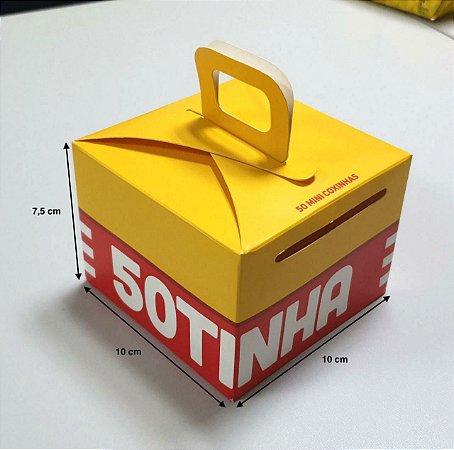 Caixa com alça - (LxAxP) 10 x 7,5 x 10 cm
