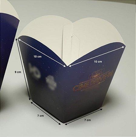 Caixa Embalagem Pipoca P - (LxAxP) 10 x 9 x 10 cm