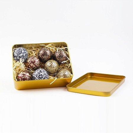 Latinha Dourada c/ 8 Bombons Truffados 136 g