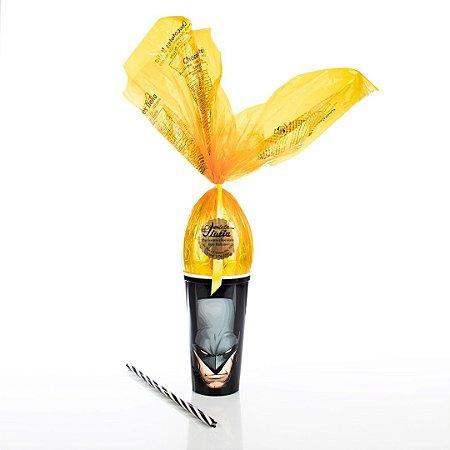 Copo Infantil Amarelo e Preto com Ovo de Páscoa 200g Ao Leite