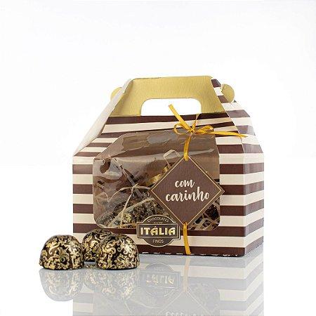 Caixa Premium com Carinho c/ 1 ovo de 40g e 6 bombons Truffados