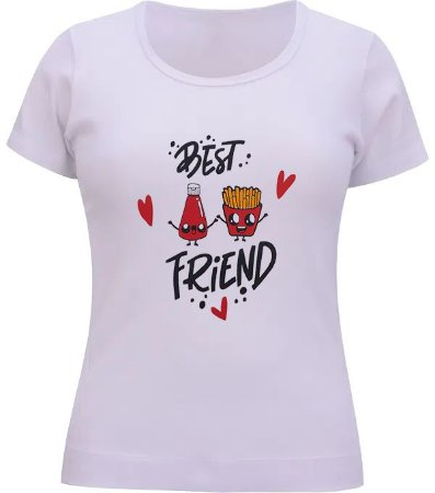 BABY LOOK BEST FRIENDS BRANCO