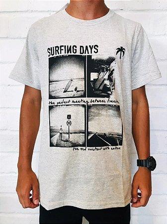 CAMISA SURFING DAYS CINZA