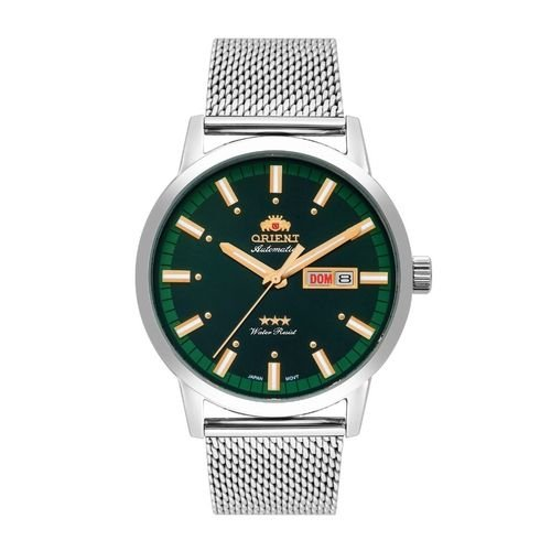 Relógio Orient Masculino Automático Verde Aço