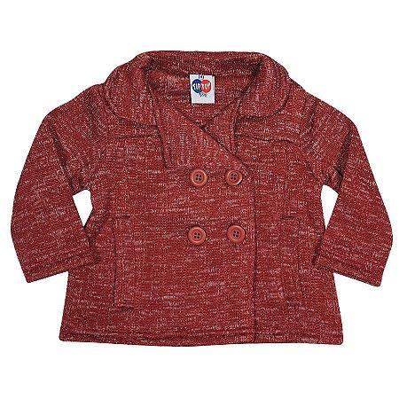 Jaqueta Menina Tip Top Vermelha Tamanho 9 a 12 meses