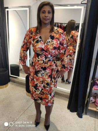 Vestido Estampa Floral Sagena Tam.46