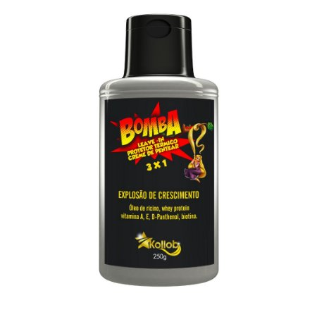 3x1, Leave In Bomba , Protetor Térmico, Creme Para Pentear