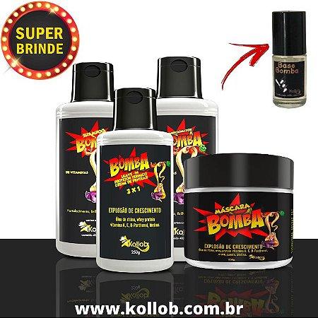 2 Kit para Crescimento Capilar - Kit Bomba Kollob  - Crescimento De 4 A 8 Cm Ao Mês - ORIGINAL