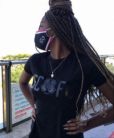 Camisa Casual SCFC Alto Relevo Black Feminino
