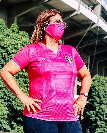 Camisa Santa Cruz Rosa Monograma Feminina