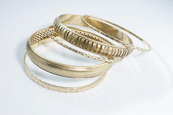 Kit de pulseiras ouro velho