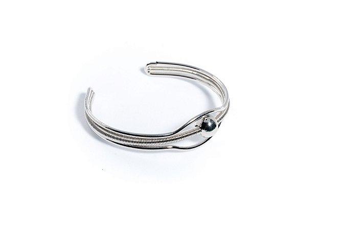 Bracelete prata - bola central