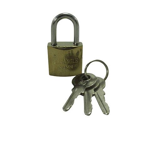 Cadeado 20mm com 3 chaves - TRI-ANGLE