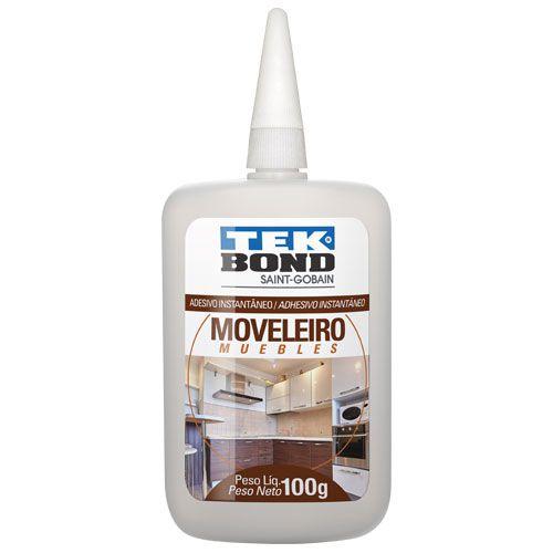 Kit 10 unidades Adesivo Instantâneo Moveleiro 100g - Tekbond