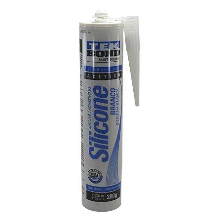 Silicone para vedação 280 gramas acético Branco - TekBond