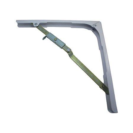 Suporte Dobrável para mesa de parede ou prateleira 40cm Branco