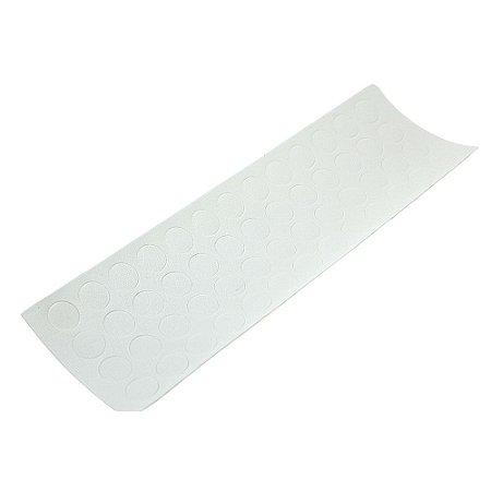 Tapa Furo Adesivo 12mm Branco Texturizado  c/10 cartelas