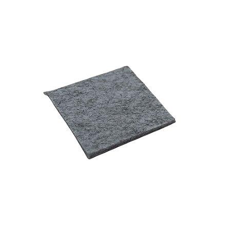 Feltro Adesivo 20x20mm Quadrado Cinza com 100 peças