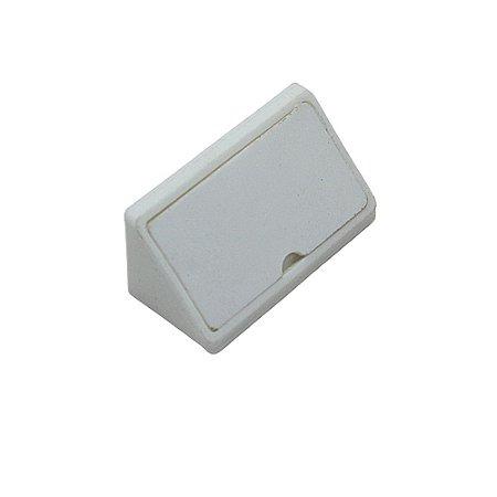 Cantoneira Conector Branco 4 Furos - pacote com 100 peças