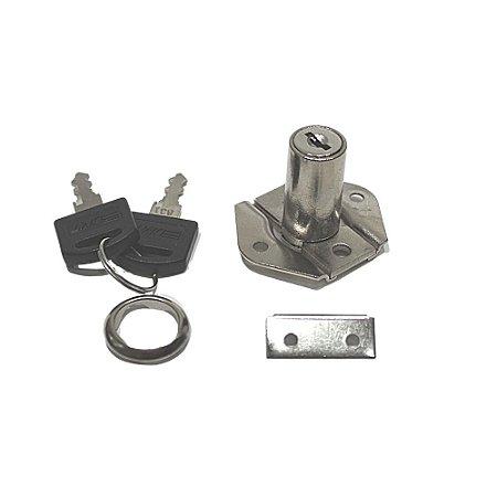 Fechadura para gaveta 31mm fixa com duas Chaves - DMT