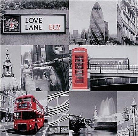 TELA DE CANVAS LONDRES LOVE LANE