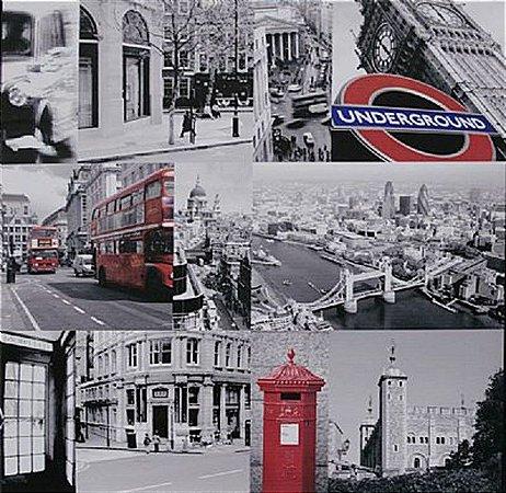 TELA DE CANVAS LONDRES UNDERGROUNG