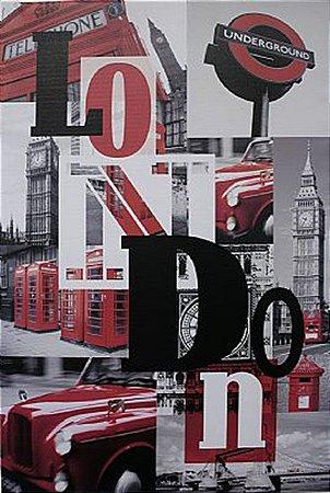 TELA DE CANVAS WORD LONDON