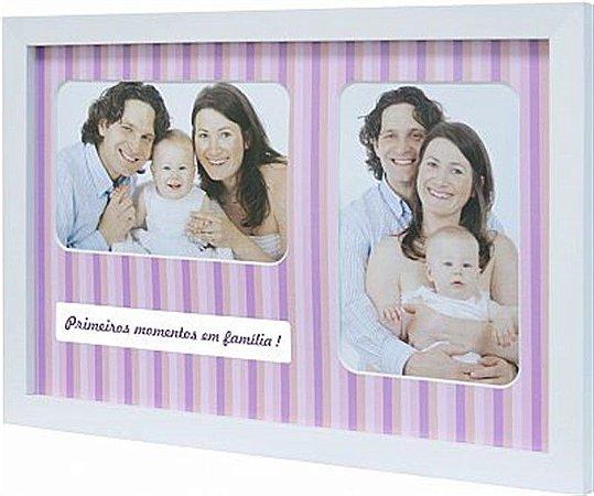 PAINEL PORTA-RETRATOS BABY LOVE COLOR P/ 2 FOTOS 10X15CM