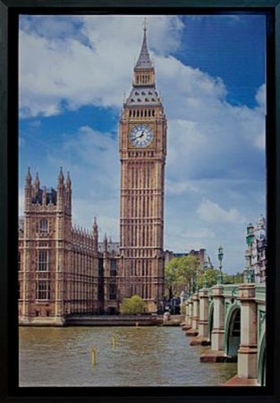 TELA DE CANVAS COM MOLDUR BIG BEN
