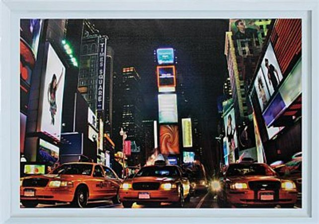 TELA DE CANVASCOM MOLDURA  NEW YORK NIGHT