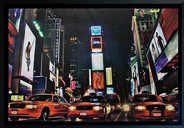 TELA DE CANVAS COM MOLDURA NEW YORK NIGHT