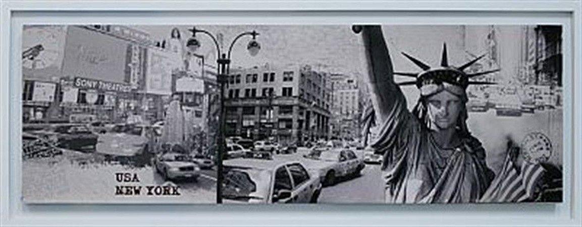 TELA DE CANVAS COM MOLDURA USA - NEW YORK