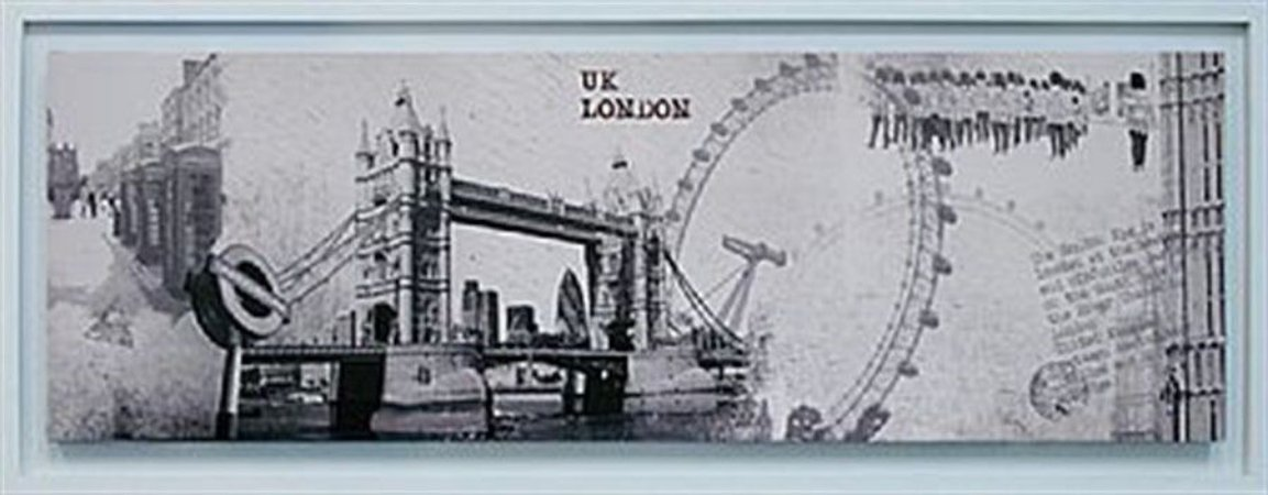 TELA DE CANVAS COM MOLDURA UK - LONDON