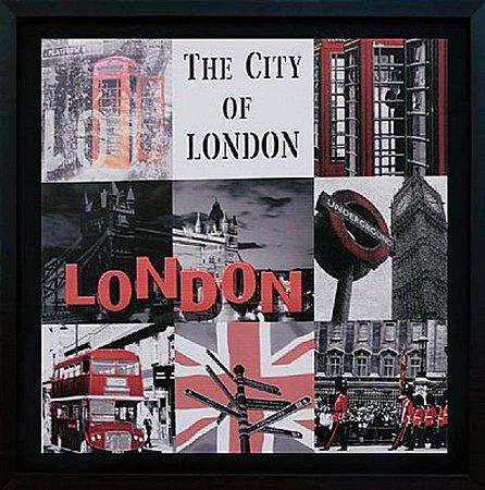 TELA DE CANVAS COM MOLDURA COLLECTION ENGLAND - THE CITY OF LONDON