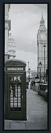 TELA DE CANVAS COM MOLDURA LONDON TELEPHONE