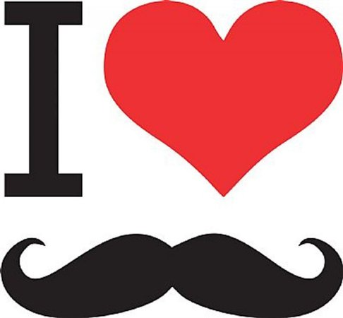 DECOR STICKER I LOVE MUSTACHE